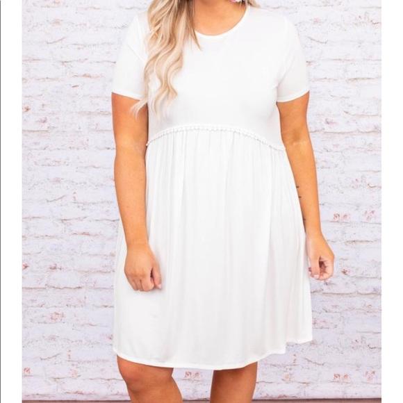 White Tee Shirt Dress Plus Size